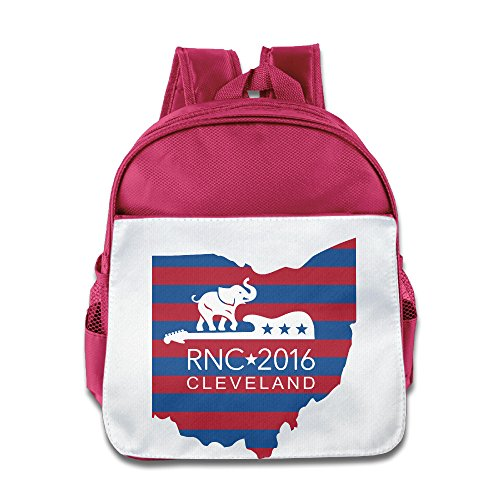 2016 RNC In CLE Blue And Red Map Toddler School Backpack Pink