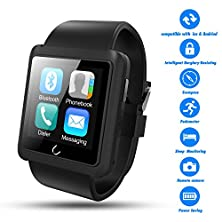 buy Smart Watch,Best Valentines Gift,Couples Watches,Twobiu(Tm)Bluetooth Smart Watch U10L With Pedometer+Anti-Lost+Remote Camera+Sleep Monitoring+Stereo Music For Ios, Andriod Devices-Black