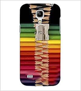 PrintDhaba Sharper with Coloured Pencils D-4269 Back Case Cover for SAMSUNG GALAXY S4 MINI (Multi-Coloured)