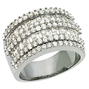 14k White Trendy 2.28 Ct Diamond Ring - Size 7.0 - JewelryWeb