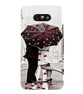 PrintVisa Romantic Love Couple Road 3D Hard Polycarbonate Designer Back Case Cover for LG G5