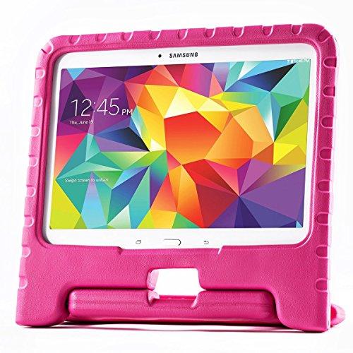 Exact Samsung Galaxy Tab 4 10.1 Case [Kidster Series] - Lightweight Eva Foam Protective Kid-Friendly Stand Case For Samsung Galaxy Tab 4 10.1 (Sm-T530 / Sm-T531 / Sm-T535) Magenta front-27557