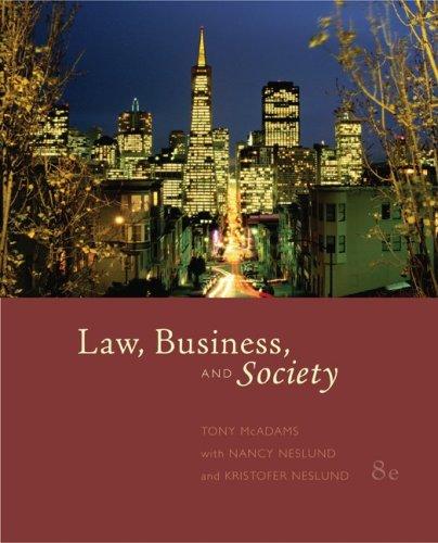 Law, Business, and Society, Tony McAdams