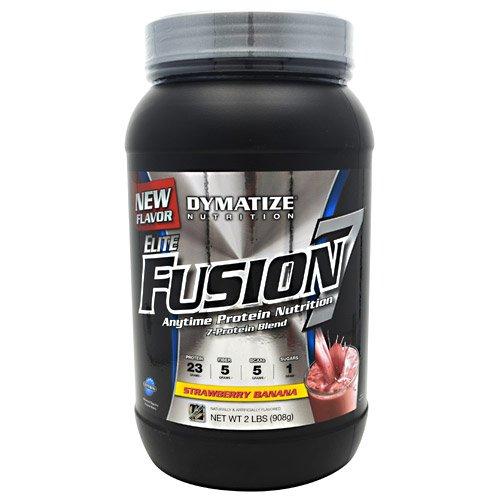 Dymatize Elite Fusion 7 Strawberry Banana -- 2 Lbs