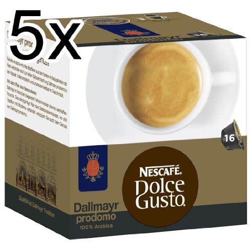 Get Nescafé Dolce Gusto Dallmayr prodomo, Pack of 5, 5 x 16 Capsules - Nestl