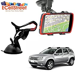 ECellStreet TM Mobile phone soft tube mount holder with suction cup - Multi-angle 360° Degree Rotating Clip Windshield Dashboard Smartphone Car Mount Holder RENAULT Dokker