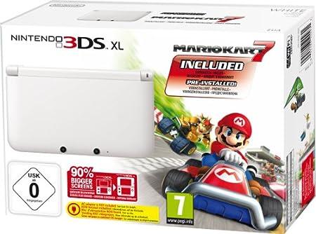 Nintendo 3DS XL Konsole weiß + Mario Kart 7 (limitiert)