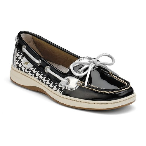 Sperry Top-Sider Womens Angelfish Black/Houndstooth - 9 B(M) US