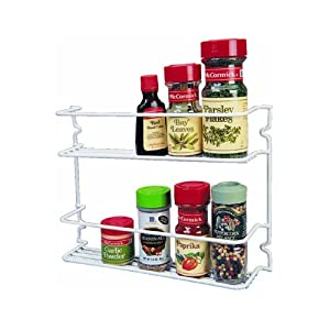 Grayline 40504, Two Shelf Spice Rack, White by Grayline
