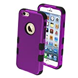 Product B00M7KB5JQ - Product title MYBAT Rubberized Tuff Hybrid Protector Case for iPhone 6 - Retail Packaging - Grape/Black