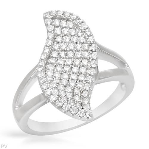 Sterling Silver 1 CTW Cubic Zirconia Ladies Ring. Ring Size 6.5. Total Item weight 3.5 g.