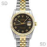 [ロレックス]ROLEX腕時計 デイトジャスト ブラックコンピューター Ref:16233 メンズ [中古] [並行輸入品]