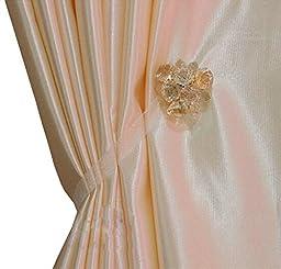 Ayygift Elegant Magnetic Curtain Rope Tieback Wrap Holdbacks - Set of 2 Gem Collection Boxed (Gem-c)