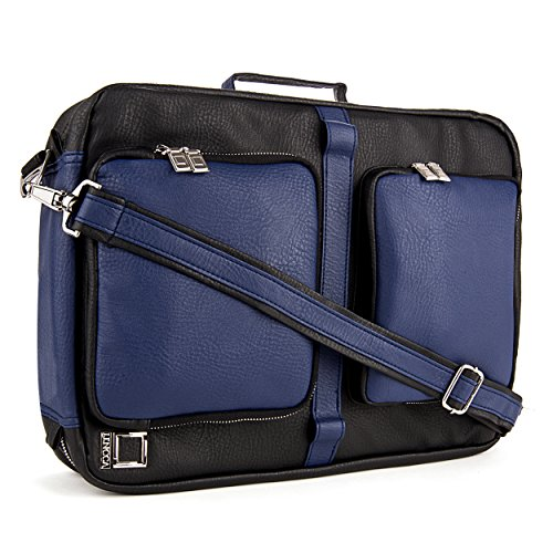 """Lencca Quadracollection 3 In 1 Handbag, Backpack And Messenger Bag For Acer Aspire E5, Es1, E1, M5, V3, V5, V7, S7, R7 13.3"""" To 15.6-Inch Laptops (Royal / Blue)"""