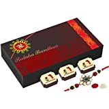 Best Rakhi Gift With Tilak And Chawal - Unique Gift For Rakhi - 6 Chocolate Box With Rakhi