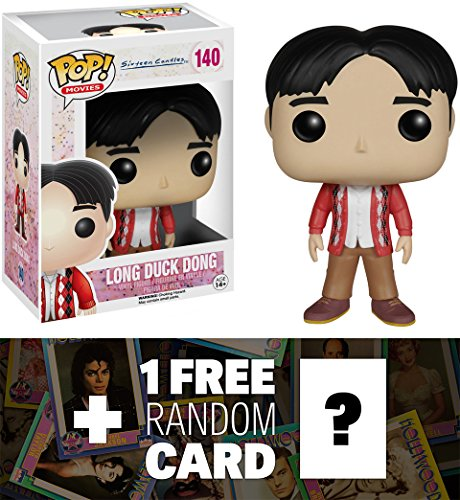 Long Duk Dong: Funko POP! x Sixteen Candles Vinyl Figure + 1 FREE Official Hollywood themed Trading Card Bundle [48259]