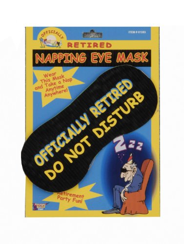 Forum Novelties Officially Retired Retirement Party Do Not Disturb Napping Eye Mask Gag Gift