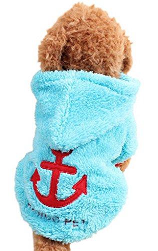 Artikelbild: Bigood Flanell Liebe Hund Haustier Bekleidung Pullover Haustier Kostüm XS Blau