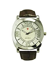 Svviss Bells Mesmerizing White Dial Watch For Men