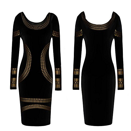 kim-kardashian-style-celebrity-mini-dress-with-gold-tile-styling-36-38-s-m-black