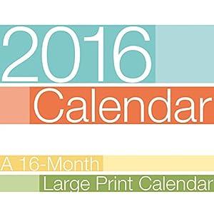 Large Print 2016 Wall Calendar (Bilingual)