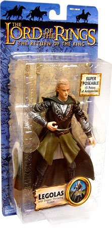 Lord of the Rings Trilogy Edition Legolas with Dagger Throwing Action Action Figure - 1