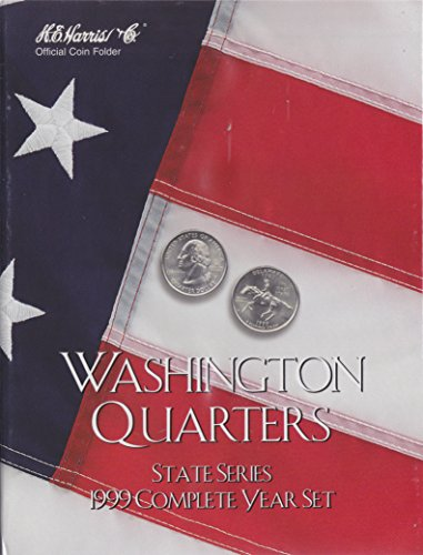 1999 COMPLETE YEAR SET STATE SERIES QUARTERS HARRIS 8HRS2582 COIN; ALBUM, BINDER, BOARD, BOOK, CARD, COLLECTION, FOLDER, HOLDER, PAGE, PORTFOLIO, PUBLICATION, SET, VOLUME - 1