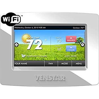 Venstar T7850 Colortouch 7 Day Programmable Thermostat with Built in Wifi - Works W/ Alexa