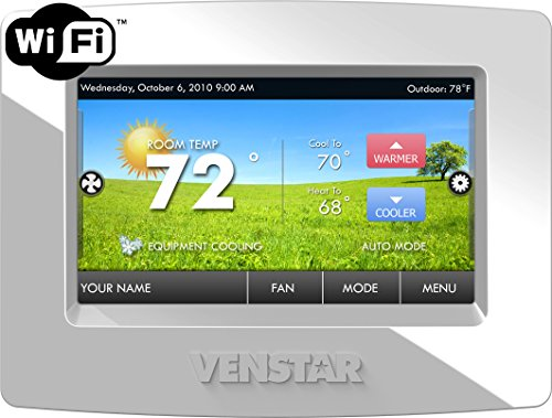 Venstar T7850 Colortouch 7 Day Programmable Thermostat with Built in Wifi - Works W/ Alexa (Wifi Thermostat Heat Pump compare prices)