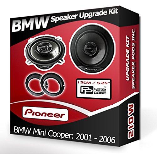 bmw-mini-cooper-front-door-speakers-pioneer-car-speakers-adapter-ring-pods-210w
