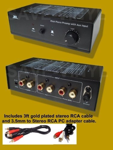 Find Cheap Turntable / Phono Preamp Preamplifier Pre Amplifirer W Aux Input and Volume Control