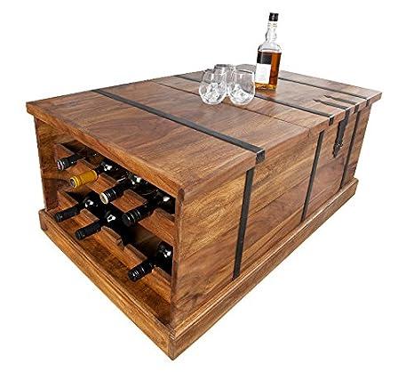 DuNordDesign Tavolino da salotto Bonaire, 100 cm, in legno di Sheesham