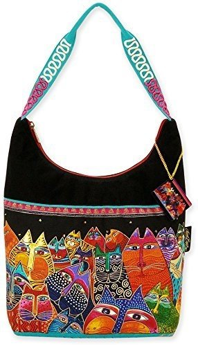 laurel-burch-laurel-burch-medium-scoop-tote-zipper-top-356-cm-von-3-1-2-von-12-1-4-zoll-fantasticats