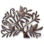 Nesting Birds, Haitian Metal Art, Tree of life, Recycled Oil Drum 19.5