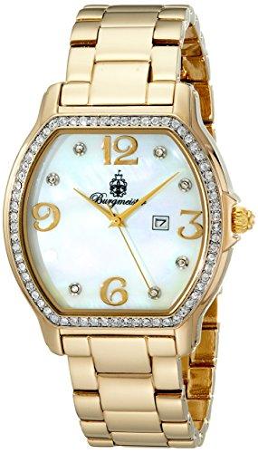 Burgmeister Vancouver Bm506-212 Ladies Analogue Quartz Wristwatch Stainless Steel Bracelet Gold Plated Date