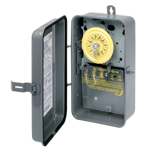 Intermatic T101R 120-Volt SPST 24 Hour Mechanical Time Switch with Outdoor Case