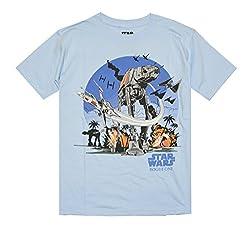 Star Wars Boys Short Sleeve Act Battle SG T-Shirt (X-Large, Light Blue)