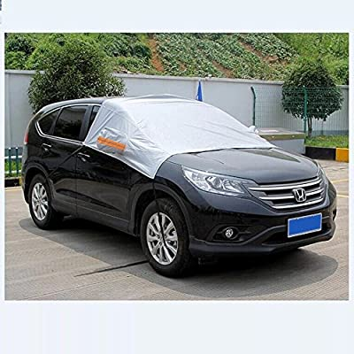 Large Sunshade Car Snow Shield Cover Auto Front Windscreen Rain Frost Windshield Car Cover Dust with Hook Up Cover with mirrors cover