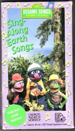 Amazon.com: SING ALONG EARTH SONGS SESAME [VHS]: Various
