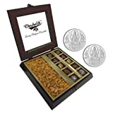 Chocholik Premium Gifts - Tempting Chocolate Box With Almonds With 5gm X 2 Pure Silver Coins - Diwali Gifts