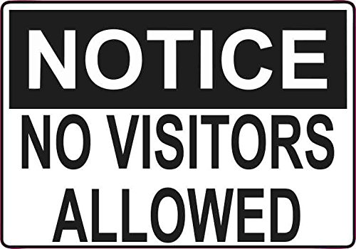 5inx3.5in No Visitors Allowed Sticker Vinyl Door Signs Wall Sign Stickers (No Visitors For Bear compare prices)