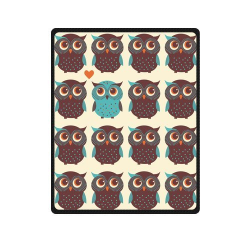 Fashion Blanket Personalized Cute Cartoon Owls Picture Fleece Blanket 40 X 50 Machine Washable front-1031830
