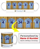 Manchester City FC Personalised Mug - Football Gifts - PLEASE LEAVE PERSONALISATION DETAILS AT THE GIFT MESSAGE OF THE AMAZON CHECKOUT WHEN ORDERING OR SEND AMAZON MESSAGE WITH DETAILS AFTER ORDERING