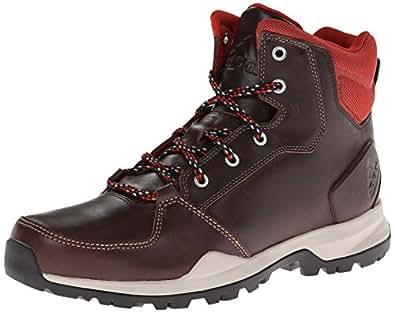 Adidas Rockstack Mid Leather Boot - Men's Dark Brown / Tribe Orange 8