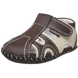 pediped Originals Brady Crib Shoe (Infant),Brown/Khaki,Small (6-12 Months)