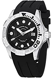 Stuhrling Original Men's Swiss Divers Rubber Strap Watch GP13099