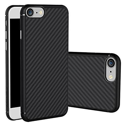 iPhone 7 Case, Nillkin Synthetic Fiber Premium Bumper Case Cover [Carbon Fiber][Compatible with Magnetic Phone Holder] for iPhone 7 4.7
