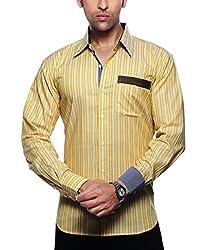 Moksh Men's Striped Casual Shirt V2IMS0414-259 (Large)