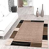 Teppich-Gnstig-Bordre-Design-Modern-Wohnzimmerteppich-Beige-Schwarz-Top-Preis-Gre60x100-cm
