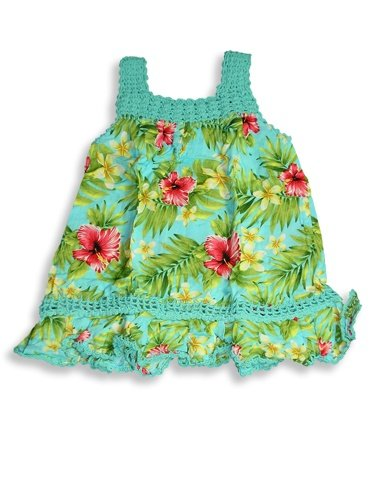 Hula Bay - Toddler Girls Hand Crochette Trimmed Printed Rayon Sundress, Aqua, Green - Buy Hula Bay - Toddler Girls Hand Crochette Trimmed Printed Rayon Sundress, Aqua, Green - Purchase Hula Bay - Toddler Girls Hand Crochette Trimmed Printed Rayon Sundress, Aqua, Green (HULA BAY, HULA BAY Dresses, HULA BAY Girls Dresses, Apparel, Departments, Kids & Baby, Girls, Dresses, Girls Dresses, Casual, Casual Dresses, Girls Casual Dresses)